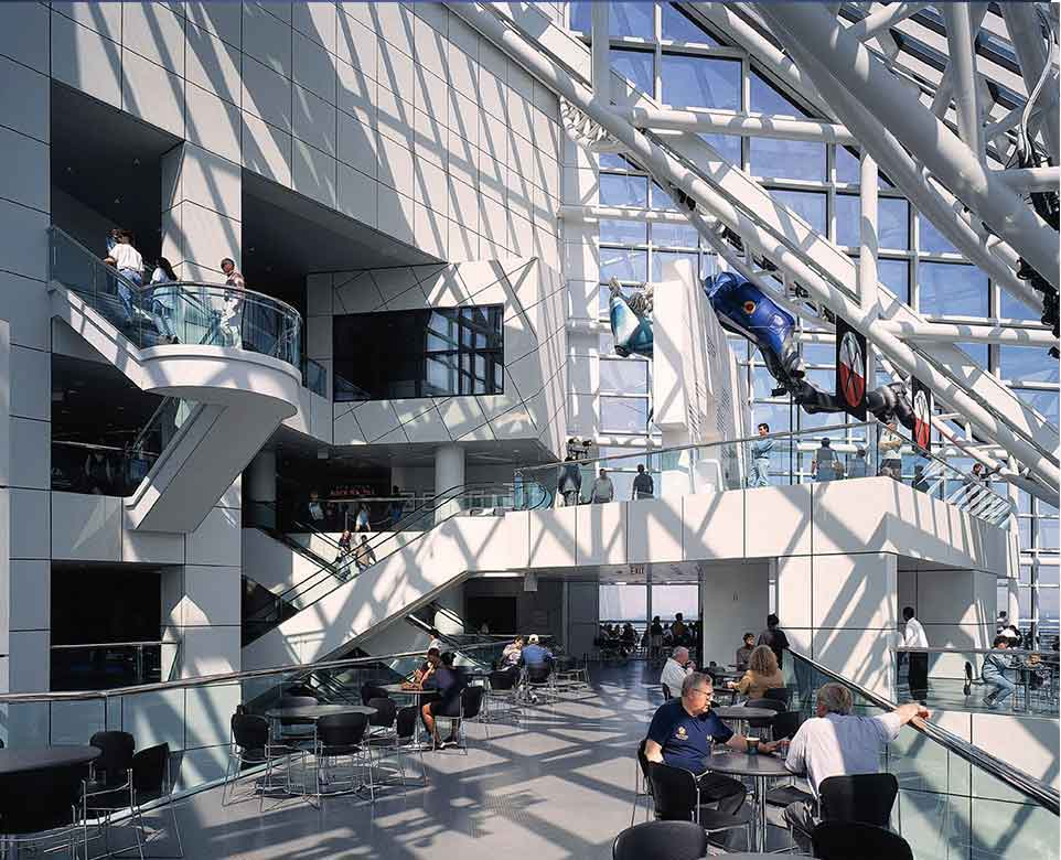 Rock and Roll Hall of Fame Designed by architect I M PEI Cleveland Ohio Interior