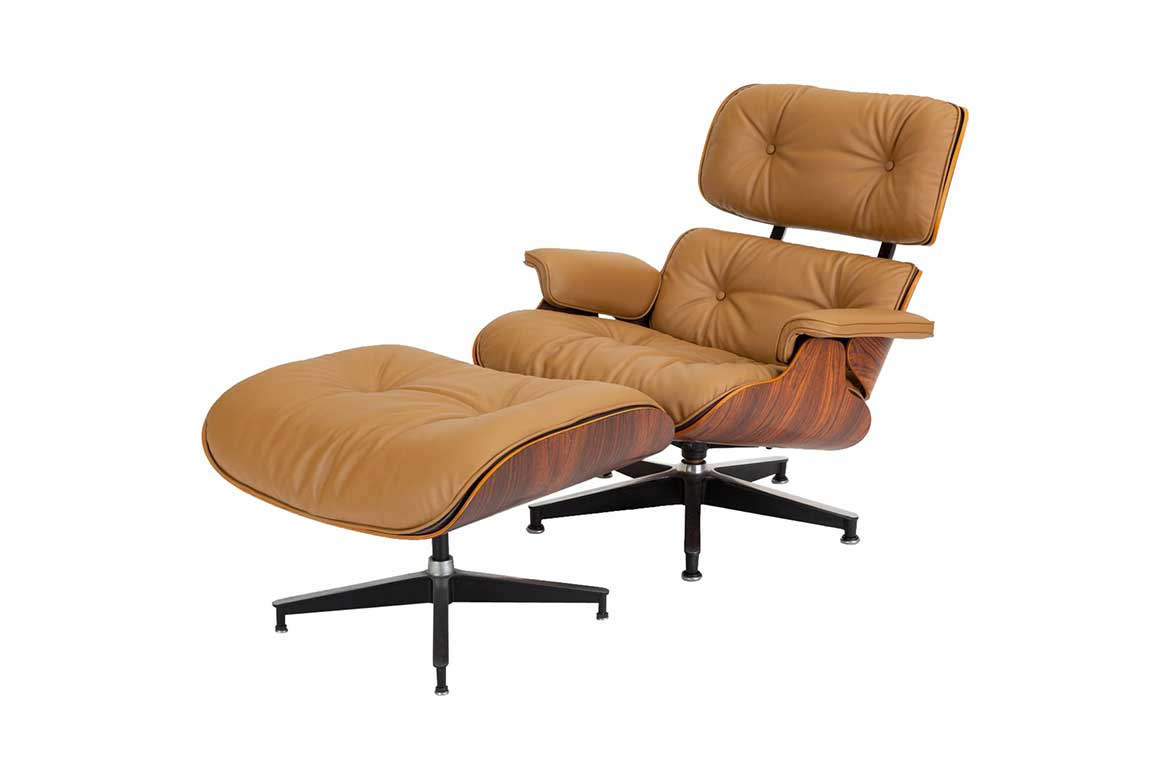 """Mid Century Modern: """"Lounge Chair with Ottoman"""" by Ray and Charles Eames for Herman Mil.-Photo by: 1stDib"""