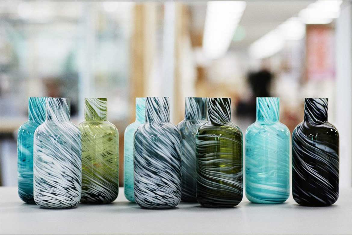 sustainable design products_Vases made of recycled glass from IKEA's no waste collection