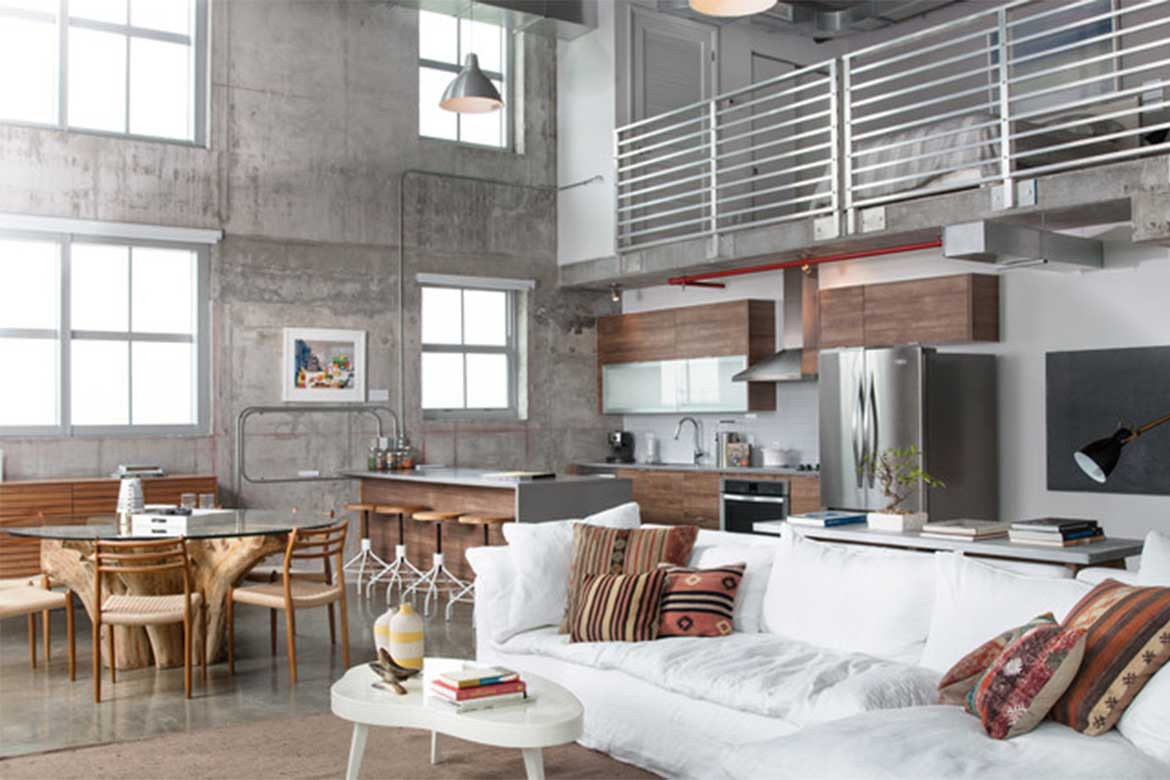 Industrial design style with neutral colours - Photo courtesy: Alex Mckenzie Photography