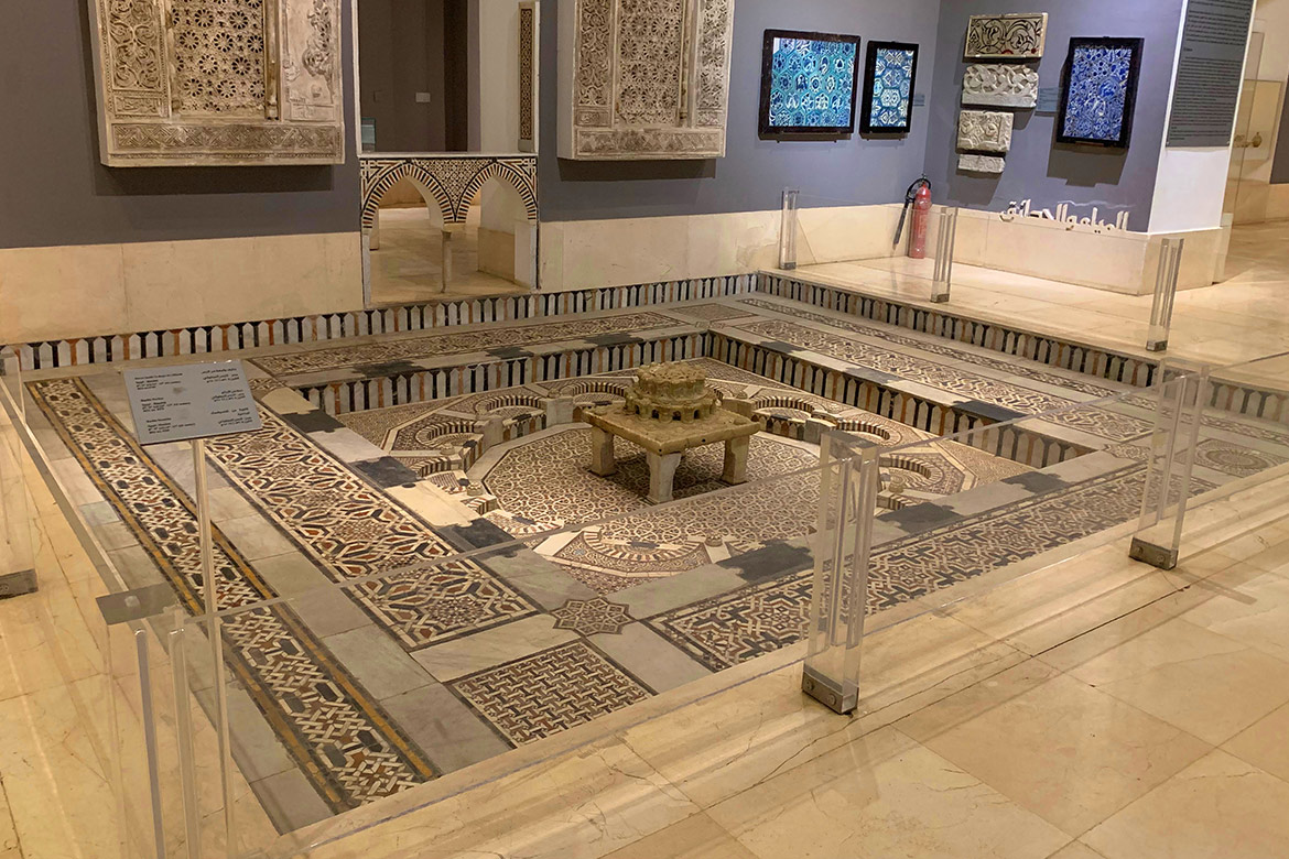 Museum of Islamic art Cairo Egypt Marble Fountain