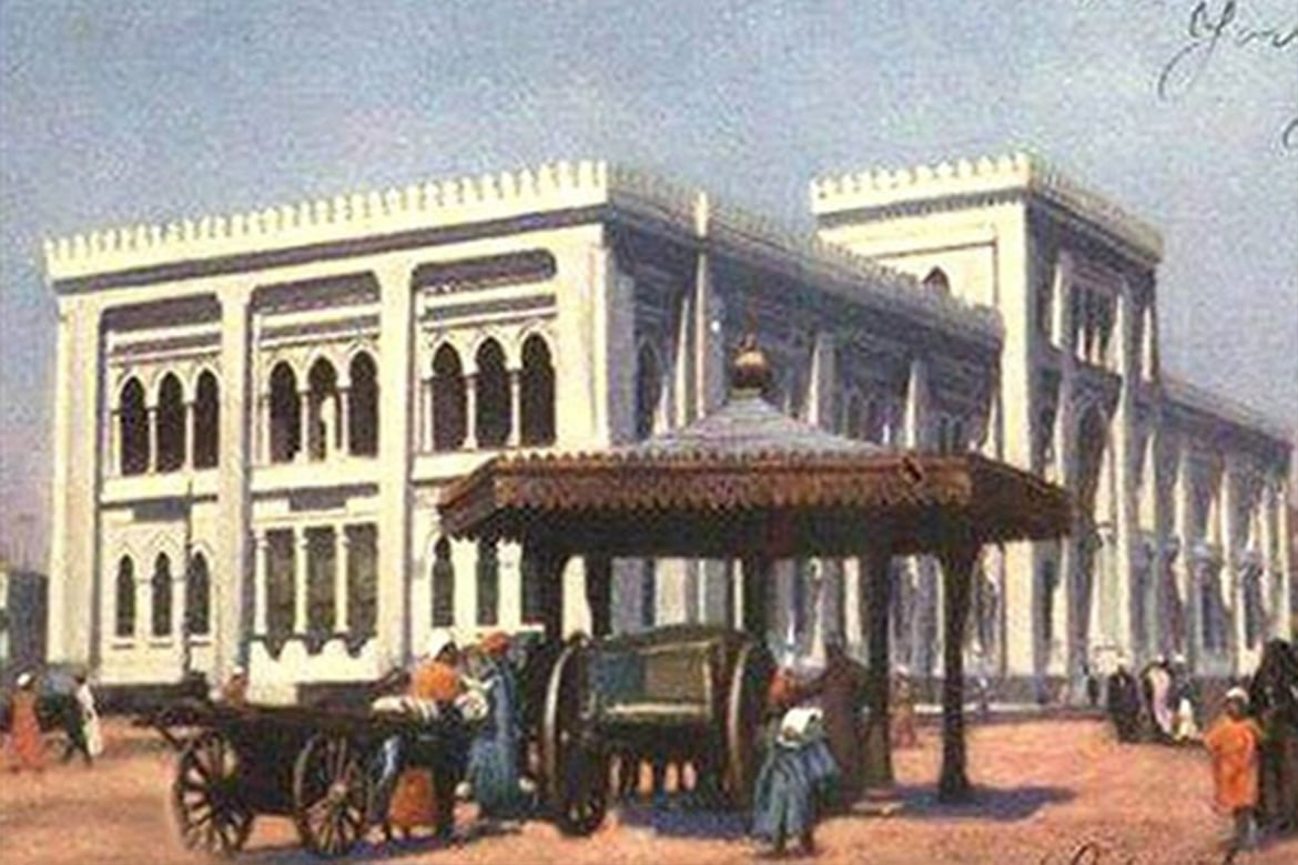dar elkotob historical building white painting islamic eclectic design