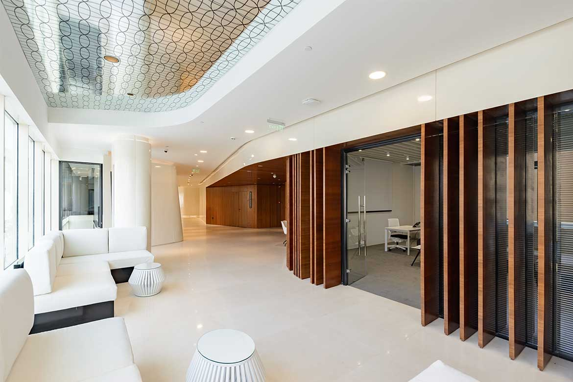 Materiality in interior finish