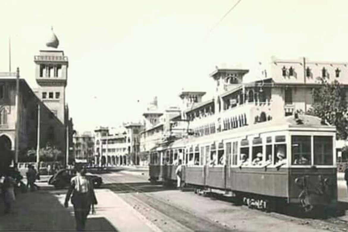 Tram as a traditional mean of transportation in old Heliopolis - Photo courtesy: @HeliopolisHeritageInitiative