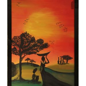 RAG1_African Lady painting for sale egypt online