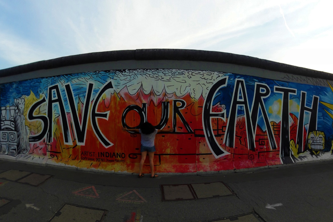 save our earth berlin wall east side gallery