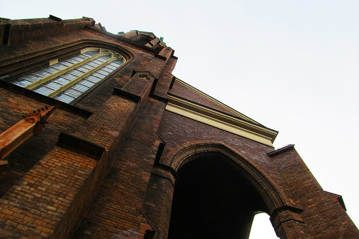 gothic architecture in berlin basilican church huge brick structure enormous wow