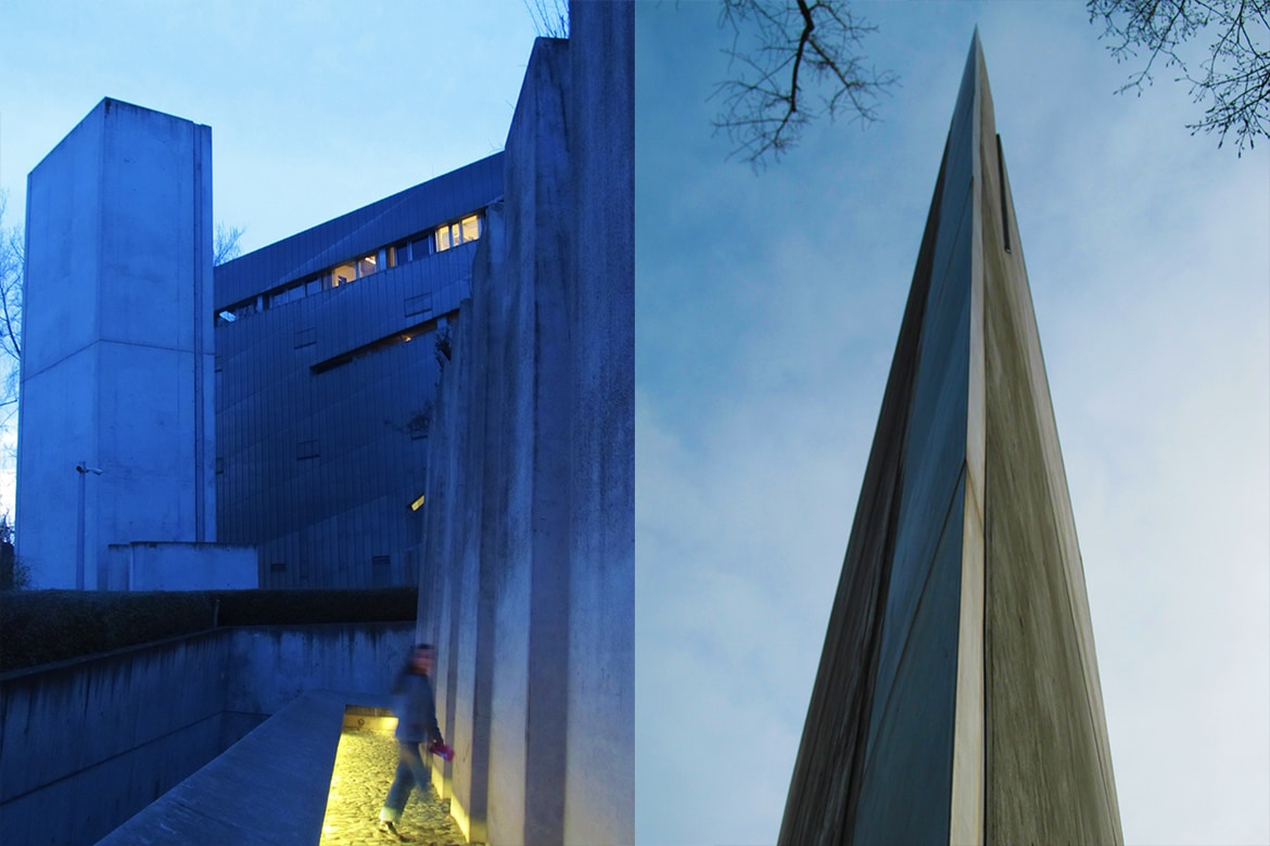 jewish museum architecture abstract froms contrasting materials night and day