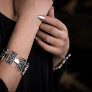 Silver Cuff by Nadine Sherif - Silver Accessories