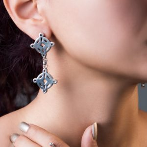 Silver Earrings 925 by Nadine Sherif