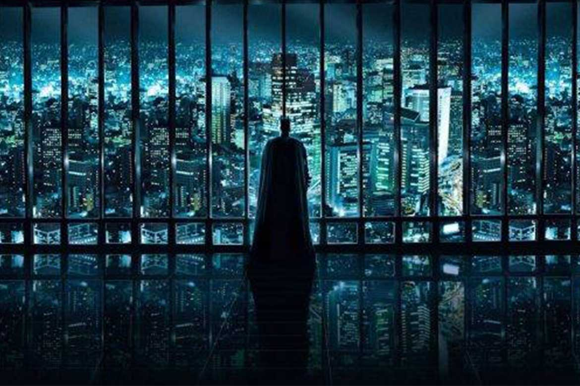 Set design Gotham city in The Dark Knight rises movie