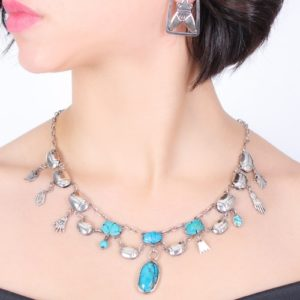 Silver & Turquoise handmade Collier by Zeinab