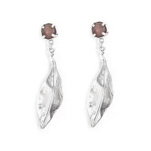 Leaf Silver Earrings by Zeinab Khalifa