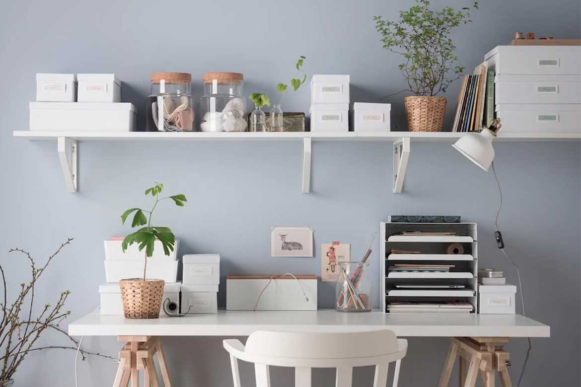 Accessories at home office Photo courtesy: Ikea