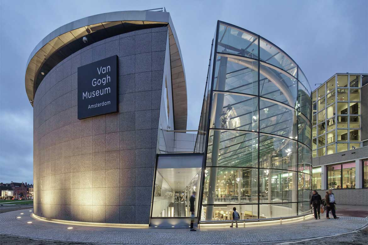 Van Gogh museum new entrance building in Amsterdam- Photo courtesy: Ronald Tilleman