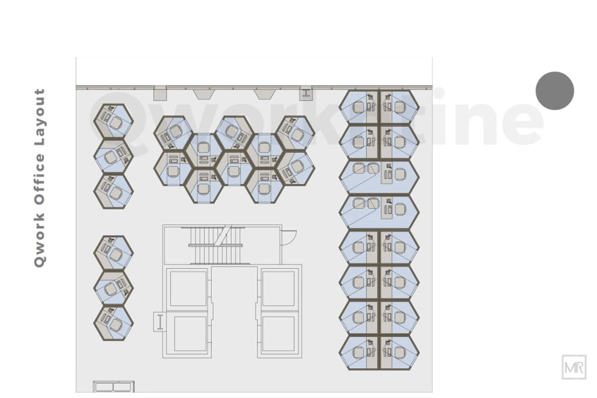 Different layout for Qworkntine office pods