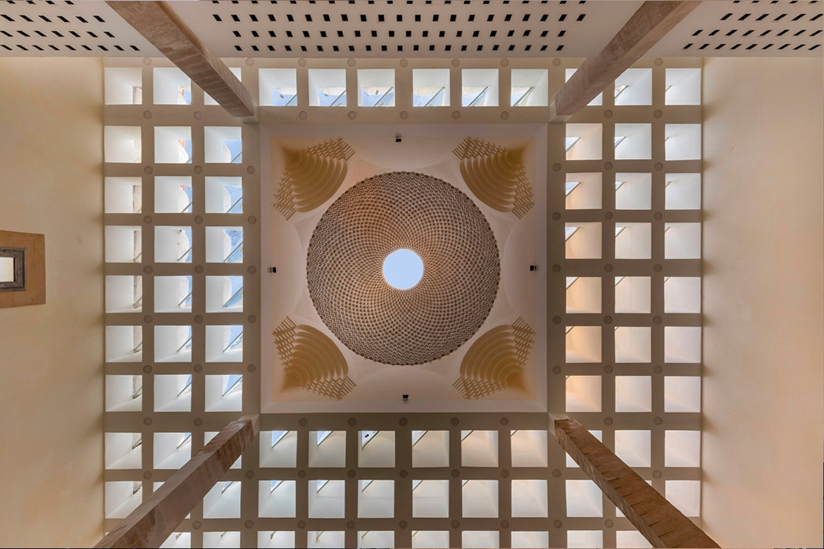 dome from inside_ islamic architecture mosque