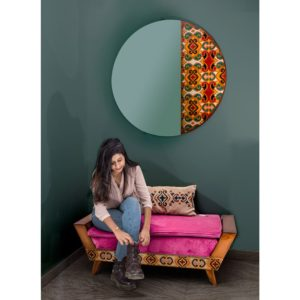 Bench and mirror shop home accessories Linesmag