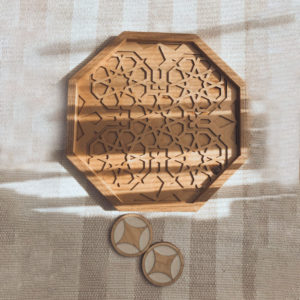 Plain wooden tray by Nada Talaat, Home accessories by Egyptian designers