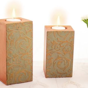 Candle holder light brown - home acessories - Linesmag