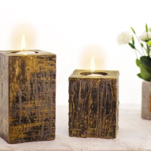 Candles Holders dark brown - home accessories