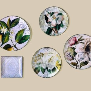 Wall Plates porcelain floral print Tableware home accessories Linesmag