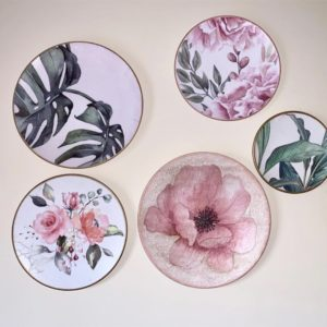 Wall Plates Leaves and Flowers