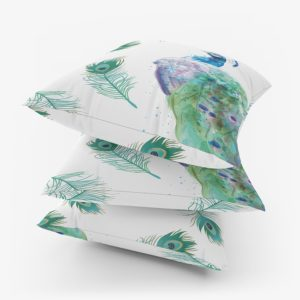Indian Peafowl Cushion - Home Textiles - Home Accessories - Egypt - Online Shopping - Designer home Decor - Linesmag Store