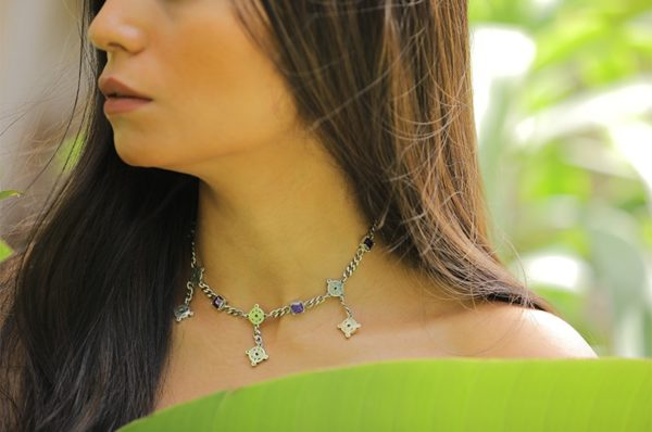 Silver Short Necklace Nadine Sherif silver accessories