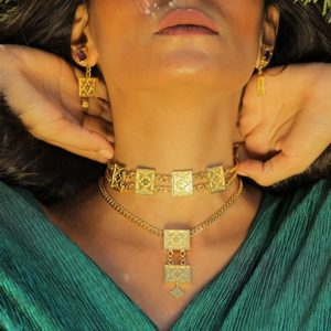 Pendant and Chain silver accessories - gold plated - egypt - online shopping
