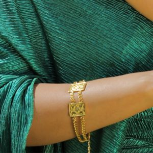 Gold Plated 18k sterling silver Bracelet by Nadine Sherif