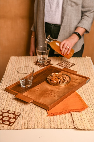 Roots RC Tray Rectangular tray_room no.9 home accessories - online shopping - Egypt - Linesmag