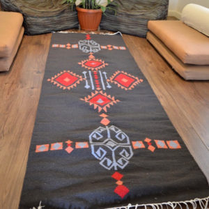 Aztec red Kilim Rug Egypt by iman shihab - local products - home accessories - online shopping - Egypt
