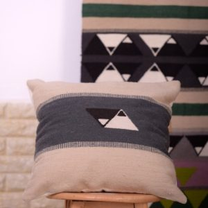 Yin Yang Black & White Cushion egypt by iman shihab - local products - home accessories - online shopping - Egypt
