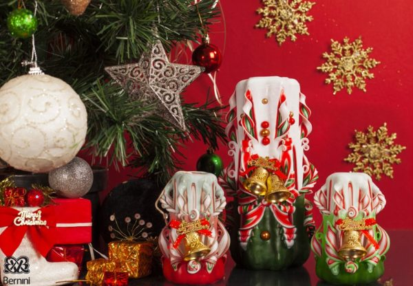 Christmas Bell Candles by Bernini candles for home decoration during holiday times gifts ideas for her and him