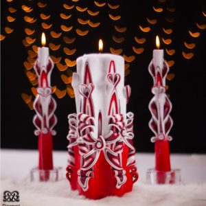 Christmas Red Candle by Bernini candles for home decoration during holiday times gifts ideas for her and him