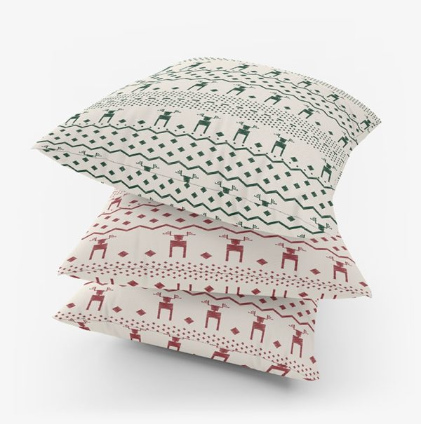 Deer Cushion cover - Christmas print home decor Egypt online shopping linesmag home accessories